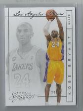 2013-14 Panini Signature Basketball Kobe Bryant Silver Parallel Card # 22/25
