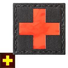 Red Cross EMS reflective MED Medical EMT morale tactical laser fastener patch