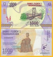 Madagascar 1000 Ariary p-100 2017 UNC Banknote