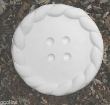 """Button stepping stone concrete plaster mold 1/8th"""" abs plastic mould"""