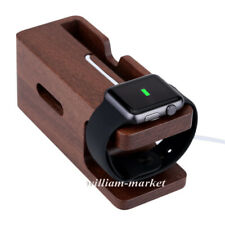 Wood Charging Dock Station Charger Holder Stand For Apple Watch iWatch iPhone 7