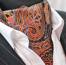 Cravat Ascot Gold Black Blue & Red Paisley with matching hanky.