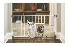 New listing Puppy/Small Dog Gate- Extra Wide 18-31in- Small Pet Door
