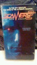 Scanners 2 - The New Order RARE Media 1991 VHS sci-fi David Hewlett mind control