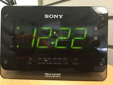 Sony Dream Machine Large Display 2 Alarm Clock Radio ICF-C414 New Backup Battery