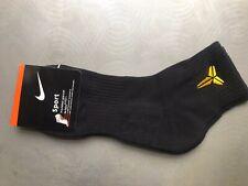 Nike Kobe Bryant Mamba Shield Basketball Low Socks L Black w/gold Logo RARE