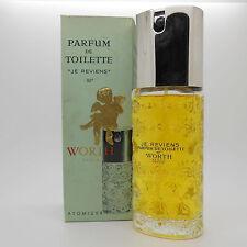 Worth Je Reviens 4 oz Parfum de Toilette spray, vintage