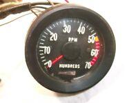67 Chevelle El Camino Tachometer 5500 Redline Blinker Tach