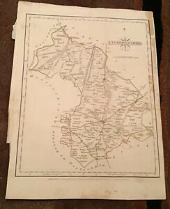 Antique Map Of Cambridgeshire 1787 By J Cary.
