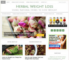* HERBAL WEIGHT LOSS * niche blog website business for sale w/ AUTO CONTENT!