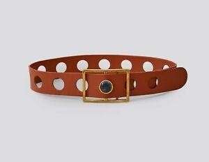 NWTRachel Comey Boho Holika belt w/t brass and lapis buckle MSRP $395 MEDIUM sz