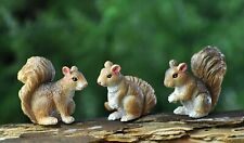 Miniature Dollhouse Fairy Garden Set of 3 Tiny Squirrels - Buy 3 Save $5