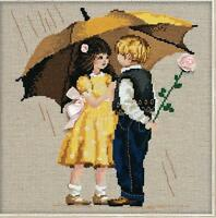 Riolis Counted Cross Stitch Kit - First Date