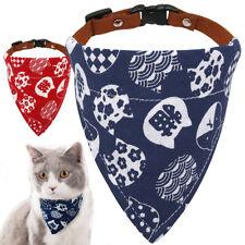 Adjustable Pet Dog Puppy Cat Neck Scarf Bandana Collar Neckerchief Red Blue XS S