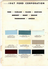1967 FORD MUSTANG GALAXIE COMET THUNDERBIRD MERCURY COUGAR 67 PAINT CHIPS RM 3