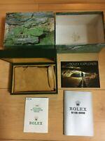 GENUINE ROLEX Explorer 114270 watch box case 68.00.02 Booklet  guarantee