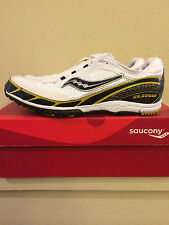 Mens 8  SAUCONY Track Shoes Cleats Kilkenny Xc 3 Spike 20047-1 White Athletic