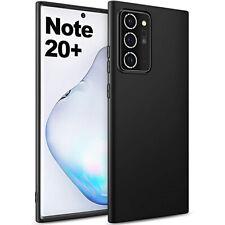 COVER per Samsung Galaxy Note 20 / Ultra CUSTODIA TPU Nero + Vetro Temperato 9H