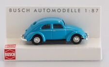 BUSCH HO scale - VW BEETLE in blue - 1/87 fully assembled plastic model