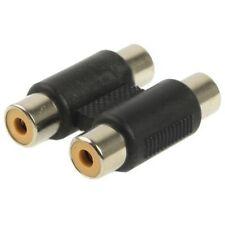 Adaptador Conector de 2 RCA Hembra a 2 RCA Hembra Alargador Acoplador