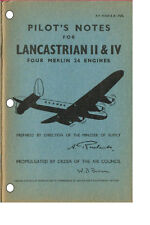 PILOT'S NOTES: AVRO LANCASTRIAN RAF TROOP CARRIER 48pps+FREE 2-10 PAGE INFO PACK