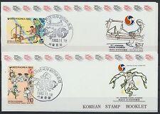 Korea Süd 1766/67 postfrische Markenheftchen / UPU .............................