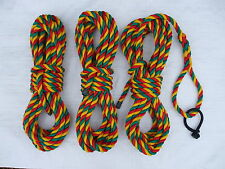 """SET OF 3x 14mm """"Jester"""" MOORING ROPES with ROPE SHACKLE 2 X 10MTR 1 X 12MTR"""
