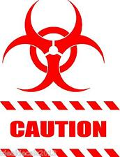 """CAUTION STICKER decal  8"""" x  6""""  in Color RED"""
