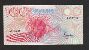 100 RUPEES VF BANKNOTE FROM SEYCHELLES MONETARY AUTHORITY 1979 PICK-26 RARE