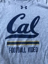 Rare Cal Berkeley University Bears Football Video Under Armour Shirt Mens Large