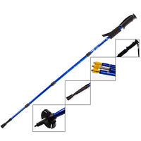 4-Section Adjustable Anti-Slip Walking Hiking Trekking Trail Poles Canes Stick