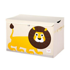 3 Sprouts Utclio Collapsible Toy Chest Storage Bin for Kid's Playroom, Lion