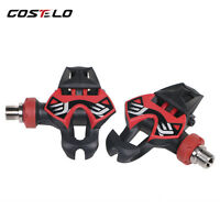 US STOCK Costelo Carbon Road carbon titanium Ti bicycle pedals with cleats