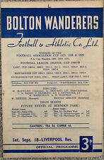 More details for bolton wanderers reserves v liverpool reserves 1954/55
