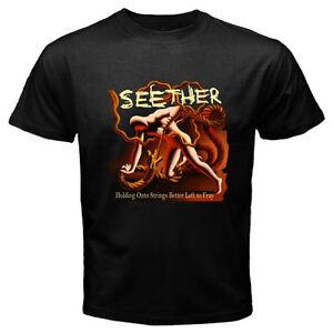 SEETHER Logo Men's Black T-Shirt Size S M L XL 2XL 3XL