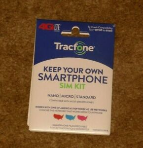 Tracfone Keep Your Own Phone Prepaid Activation SIM Card Kit (3-in-1 SIM)