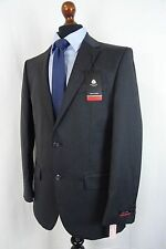 Men's Pierre Cardin Regular Fit Suit Charcoal Grey Twill 34R W28 L31 VB47