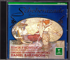 Daniel BARENBOIM: RIMSKY-KORSAKOV Scheherazade Tsar Saltan Suite CD Chicago SO