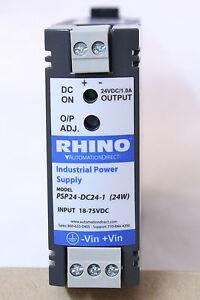 Rhino Industrial power supply PSP24-DC24-1 (24W) INPUT: 18-75V DC *FREE SHIPPING