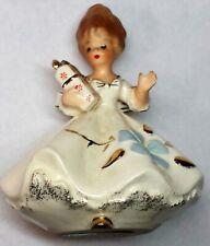 "Napco Ceramic Art: ""Girl Bearing Gifs"" FigurineL C-6352 Rare"