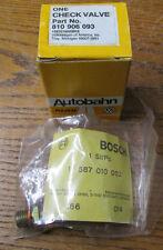 NEW NOS Bosch Autobahn 810906093 Fuel Pump Check Valve For Audi & VW 1587010002