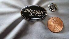 "Sig Sauer ""When It Counts"" Hat Lapel Pin"