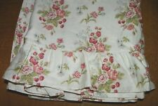 """RALPH LAUREN-""""EMILY ANNE""""-QUEEN RUFFLED FLAT SHEET-100% COTTON-BARELY USED"""