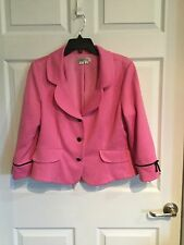 Kay Unger New York  Woman's 16  Pink Blazer  Long Sleeve Fully Lined -