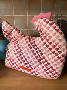 Emma Bridgewater Pink Hearts Tea Cosy Chicken Shape Discontinued Used