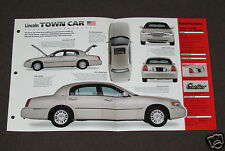 1998-1999 LINCOLN TOWN CAR (CARTIER) SPEC SHEET BROCHURE PHOTO BOOKLET