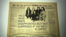 FLEETWOOD MAC if Oh Well flopped 1969 UK ARTICLE / clipping