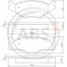 A.B.S. Brake Pad Set, disc brake 36536