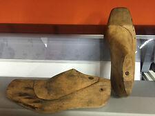 Antiche forme da calzolaio in legno scarpe uomo pianta larga