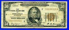 New listing -1929 $50 National ( Minneapolis ) * 3-Digit * Fr-1880-I # I00000936A